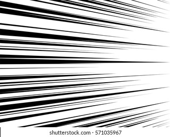 Comic book speed lines. Abstract vector background