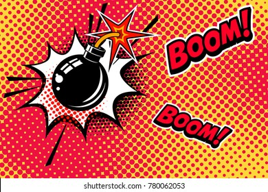 vector bomb explosion images stock photos vectors shutterstock https www shutterstock com image vector comic book style background bomb explosion 780062053