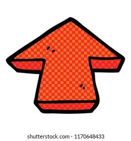 comic book style cartoon arrow symbol