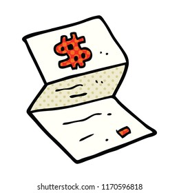 comic book style cartoon legal money letter