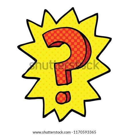 Comic Book Style Cartoon Question Mark Stock Vector Royalty Free