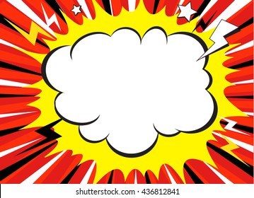 Comic book superhero pop art style black and white radial lines background. Manga or anime speed frame.