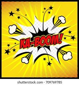 Comic book. Vector illustration KA-BOOM!