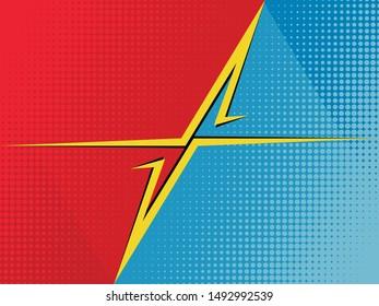 Comic book versus background. Vector illustration pop art style