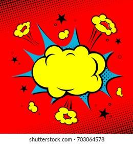 Comic book. Yellow cloud