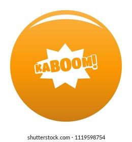 Comic boom kaboom icon. Simple illustration of comic boom kaboom vector icon for any design orange