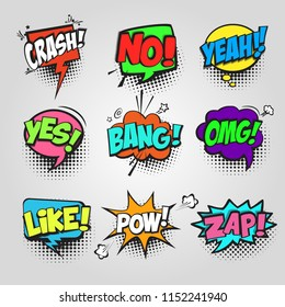 comic bubble speech communication frame pop art cloud pattern cartoon sound
