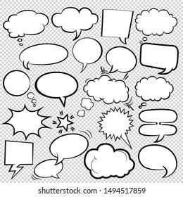 Comic Bubbles icons Collection Vector 05