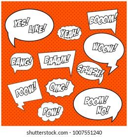 Comic Bubbles. Template For your Comics. Vector illustration