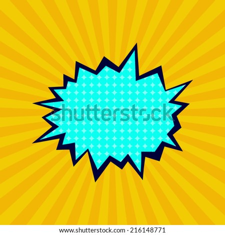 Comic Cartoon Explosion Bubble Template Stock Vector (Royalty Free ...