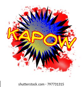 A comic cartoon style Kapow exclamation explosion over a white background
