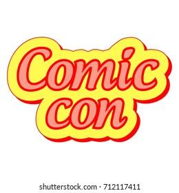 Comic Con international annual festival, vector sticker label Comic Con festival