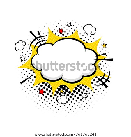 comic empty speech bubble stars clouds stock vector royalty free
