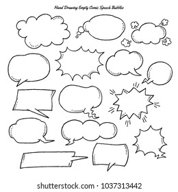 Comic Empty Speech Bubbles