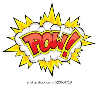 comic explosion pow