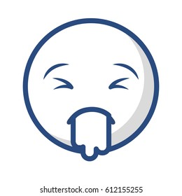 comic face emoticon isolated icon vector illustration design