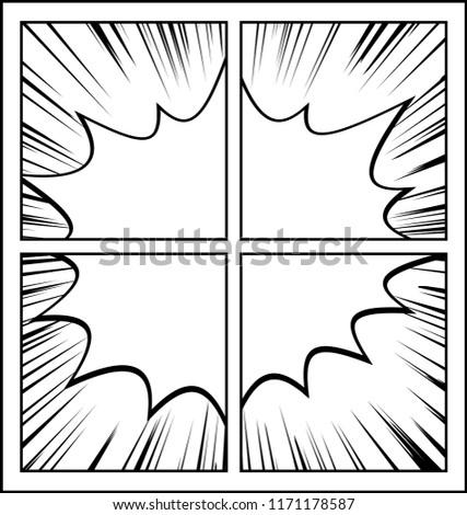 Comic Frame Speech Bubble Stock Vector (Royalty Free) 1171178587 ...