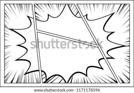 Comic Frame Speech Bubble Stock Vector (Royalty Free) 1171178596 ...