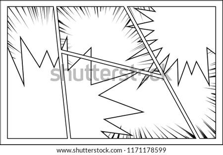 Comic Frame Speech Bubble Stock Vector (Royalty Free) 1171178599 ...