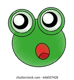 comic frog character icon