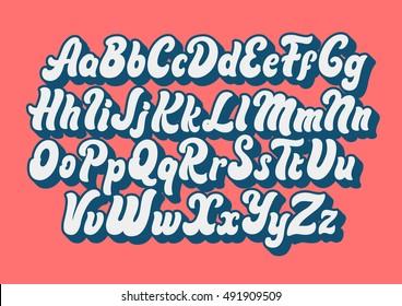 Comic Lettering Font Vector Alphabet