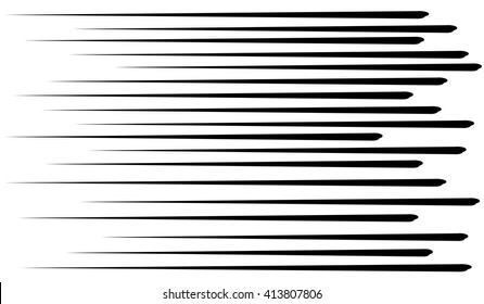 Comic lines.Speed lines black.Vector.