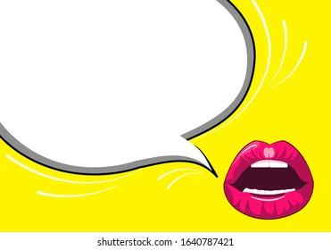 comic mouth , Pop art explosion or speech bubble