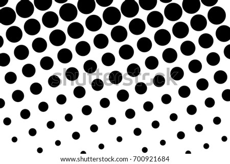 Comic Pattern Monochrome Halftone Background Black Stock Vector