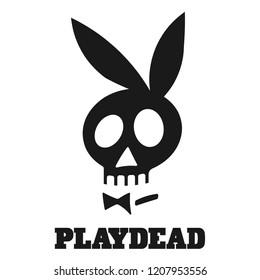 "Comic ""Playdead"" Sign. ""Playdead"" Emblem, ""Playdead"" Cartoon"