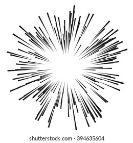 Comic Radial Speed Lines. Graphic Explosion with Speed Lines. Comic Book Design Element. Vector Illustration. Explosion vector illustration Square fight stamp Sun ray Star burst Spray paint