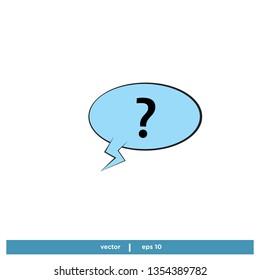 Comic Speech Bubble ask Icon