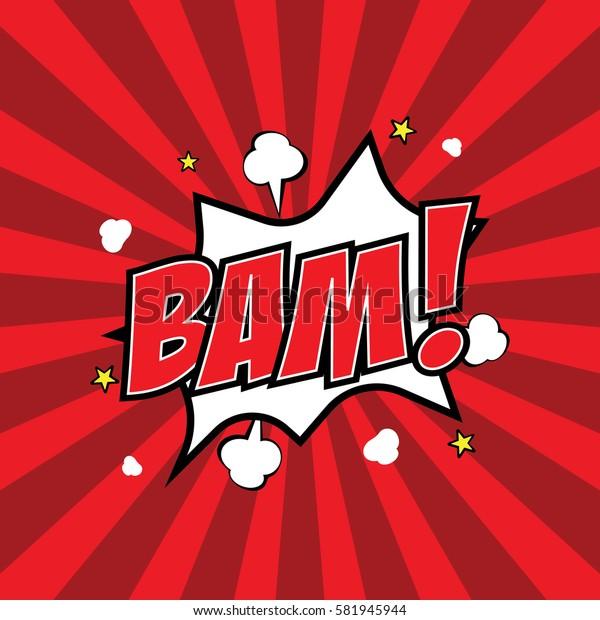 Comic speech bubble, Bam, vector illustration