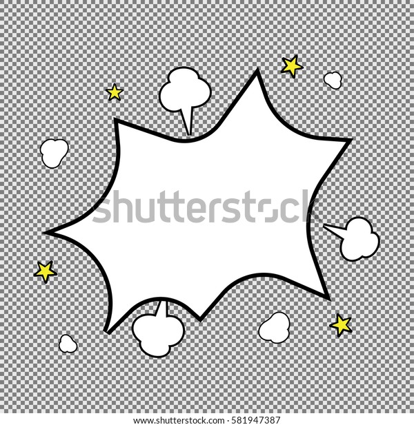 Comic speech bubble with burst and halftone. vector illustration