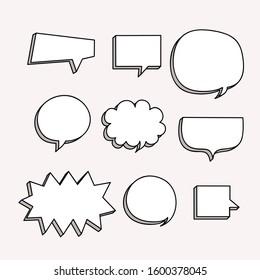 comic speech bubble . bubble text . empety speech bubble - vector