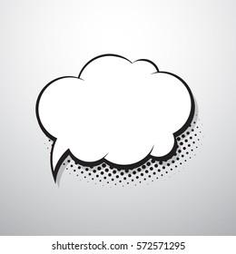 Comic speech bubble for text. Vector illustration.