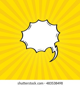 Comic & Speech bubbles and elements with Yellow Background.