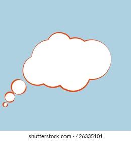 Comic speech bubbles icon, vector illustration. Flat design style
