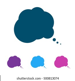 comic speech bubbles icon, vector illustration. Flat design style. The silhouette of the vector