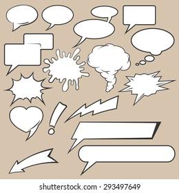 Comic speech bubbles icons