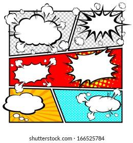 comic speech bubbles,Vector Illustration