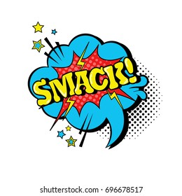 Comic Speech Chat Bubble Pop Art Style Smack Expression Text Icon Vector Illustration