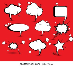 Comic speech and thought Bubbles