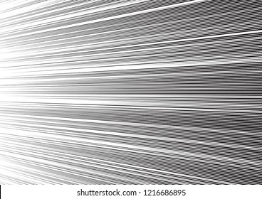 Comic speed lines background. Manga or anime graphic texture. Black and white vector illustration