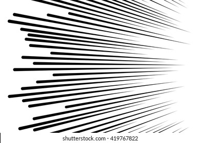 Comic speed lines background Rectangle fight stamp for card Manga or anime graphic texture Superhero action frame Sun ray or space tone elements vector illustration