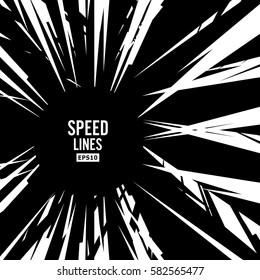 Comic Speed Lines Vector