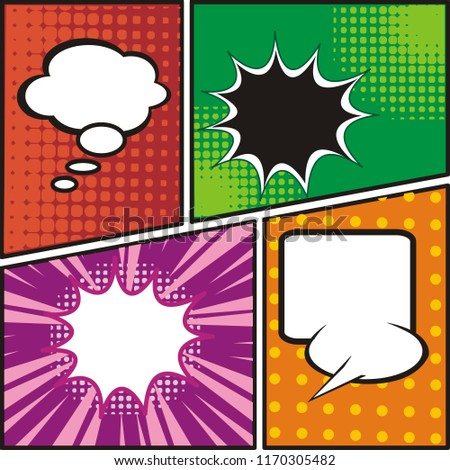 Comic Strip Page Template Blank Speech Stock Vector Royalty Free