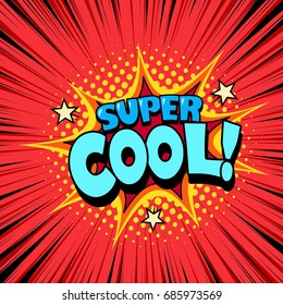 Comic style cool poster, superhero speech bubble, joyful expression