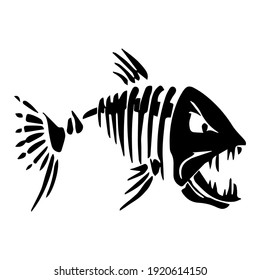 Comic Vector Image Of Fish Skeleton