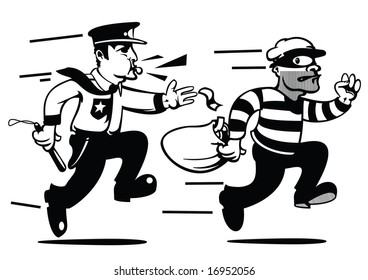 comicbook style cops and robbers