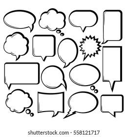 Comic/Outline Speech Bubble Collection